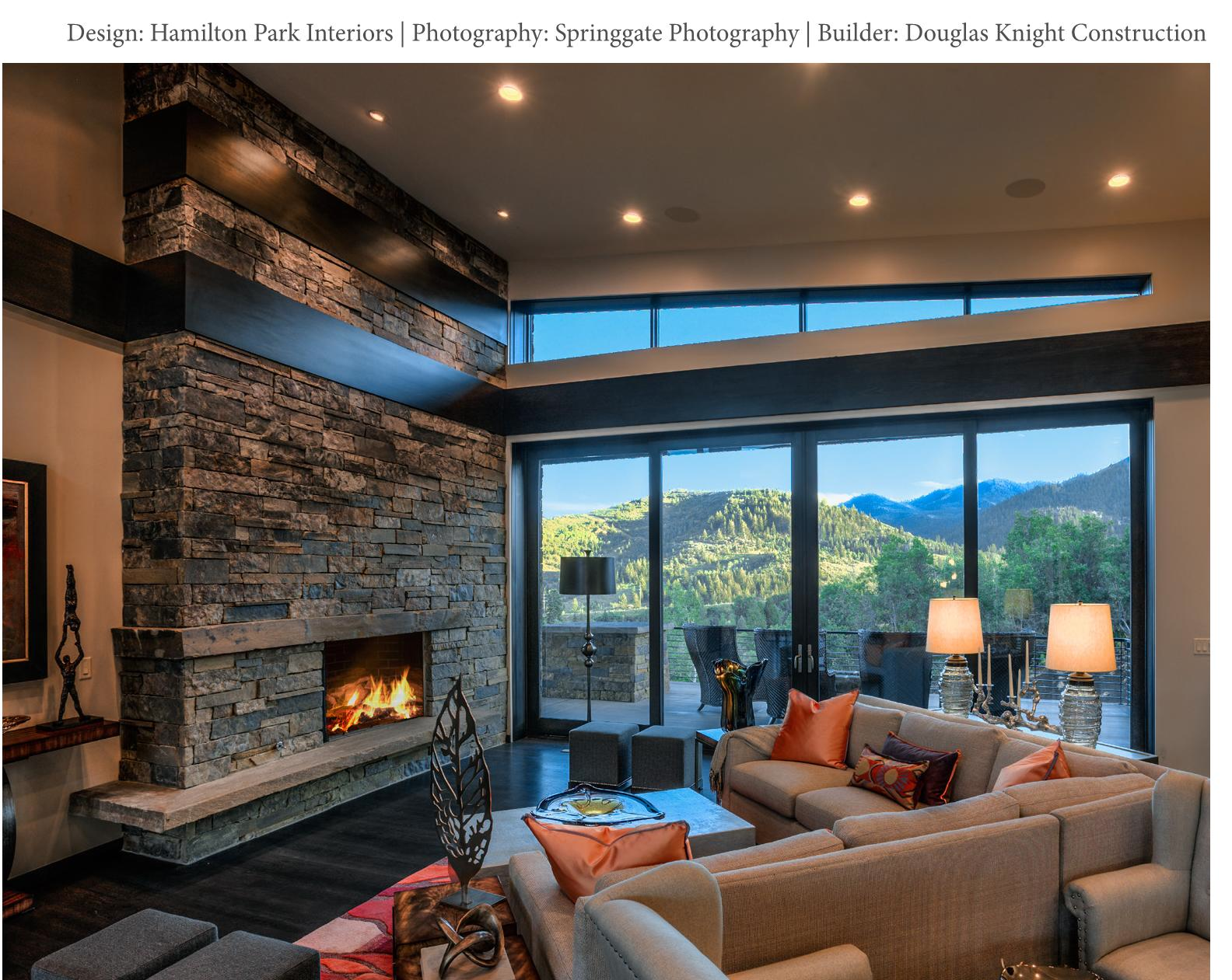 Modern mountain design park city interior designers for Contemporary interior