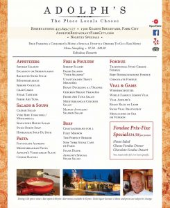 Adolph's Resturant - Park City