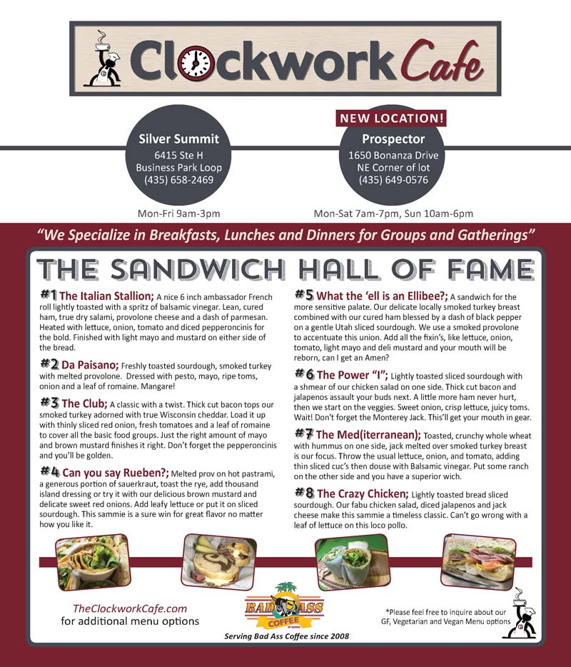 Clockwork Cafe – Prospector Park City