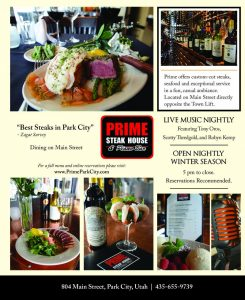 Prime Steak House and Piano Bar - Park City