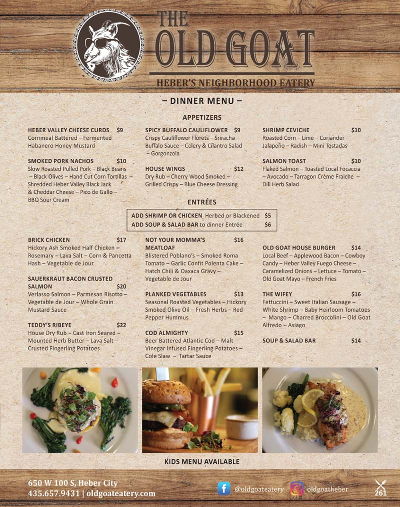 The Old Goat Eatery - Heber City