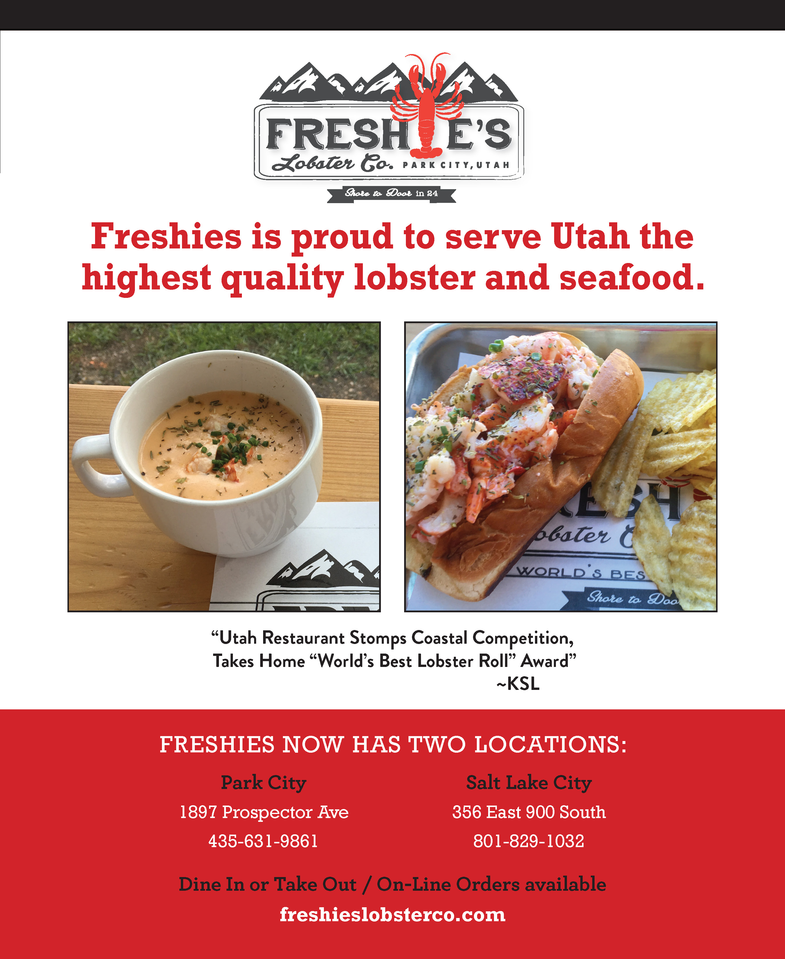 Freshie's Lobster Co. – Park City Utah