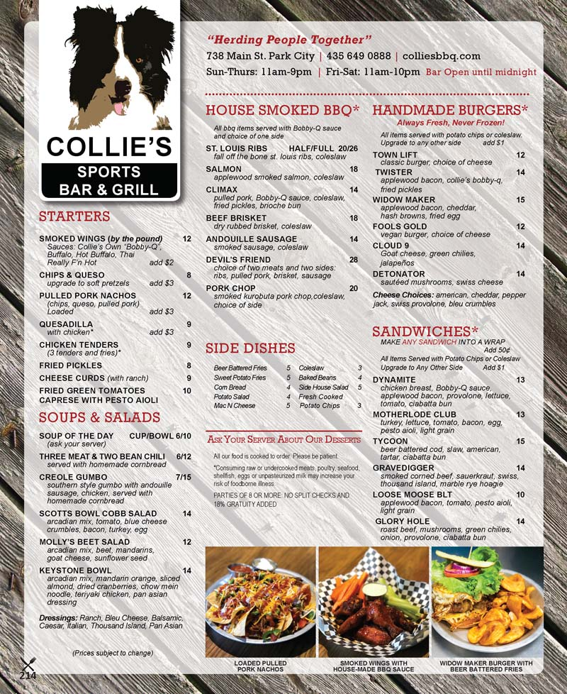 Collies Sports Bar and Grill – Main Street Park City