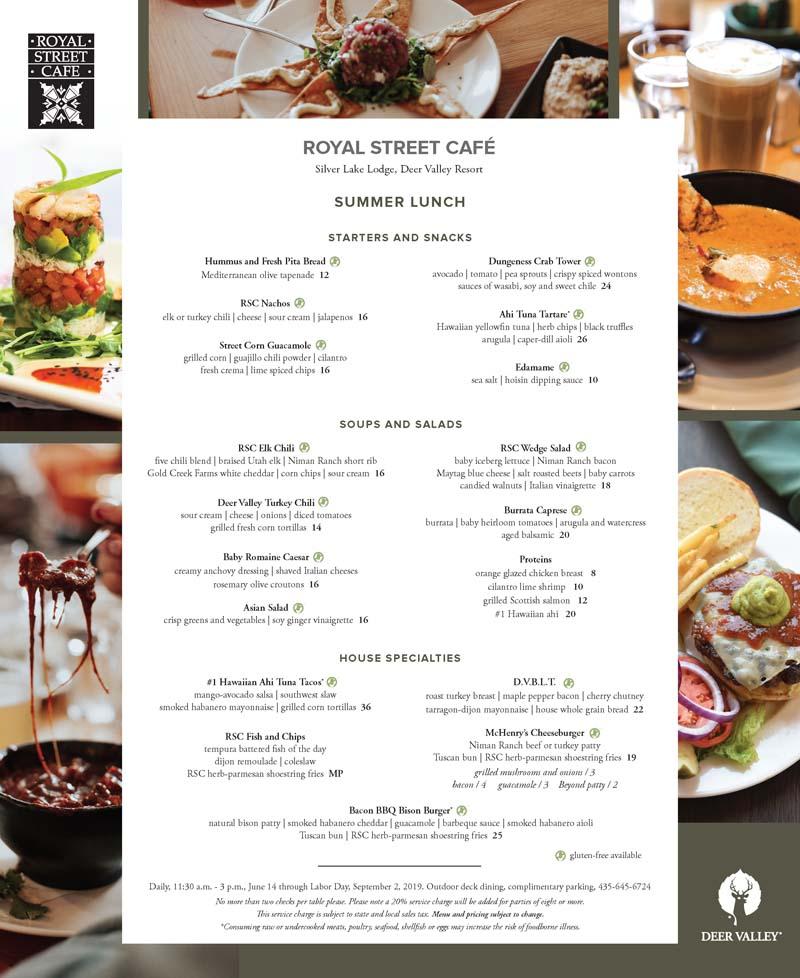 Royal Street Cafe at Deer Valley Resort