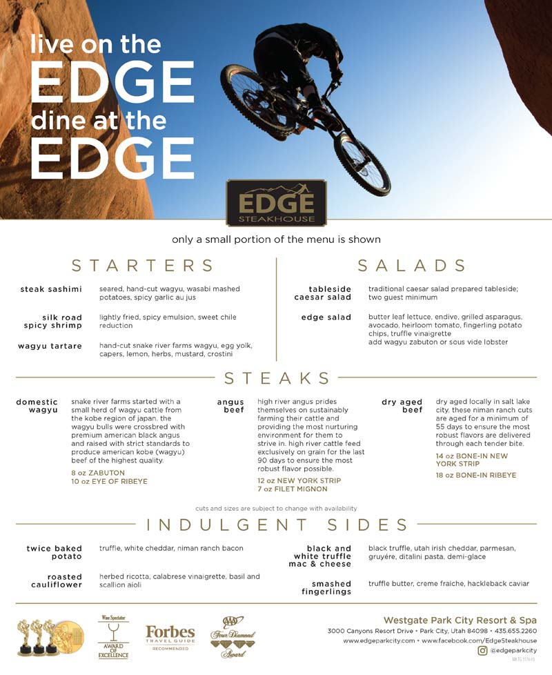 Edge Steakhouse at Westgate Park City