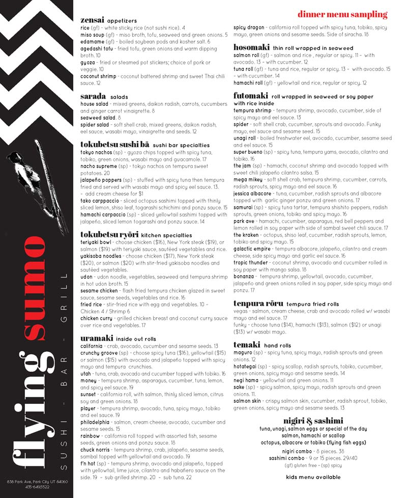 The Flying Sumo – Park City Sushi
