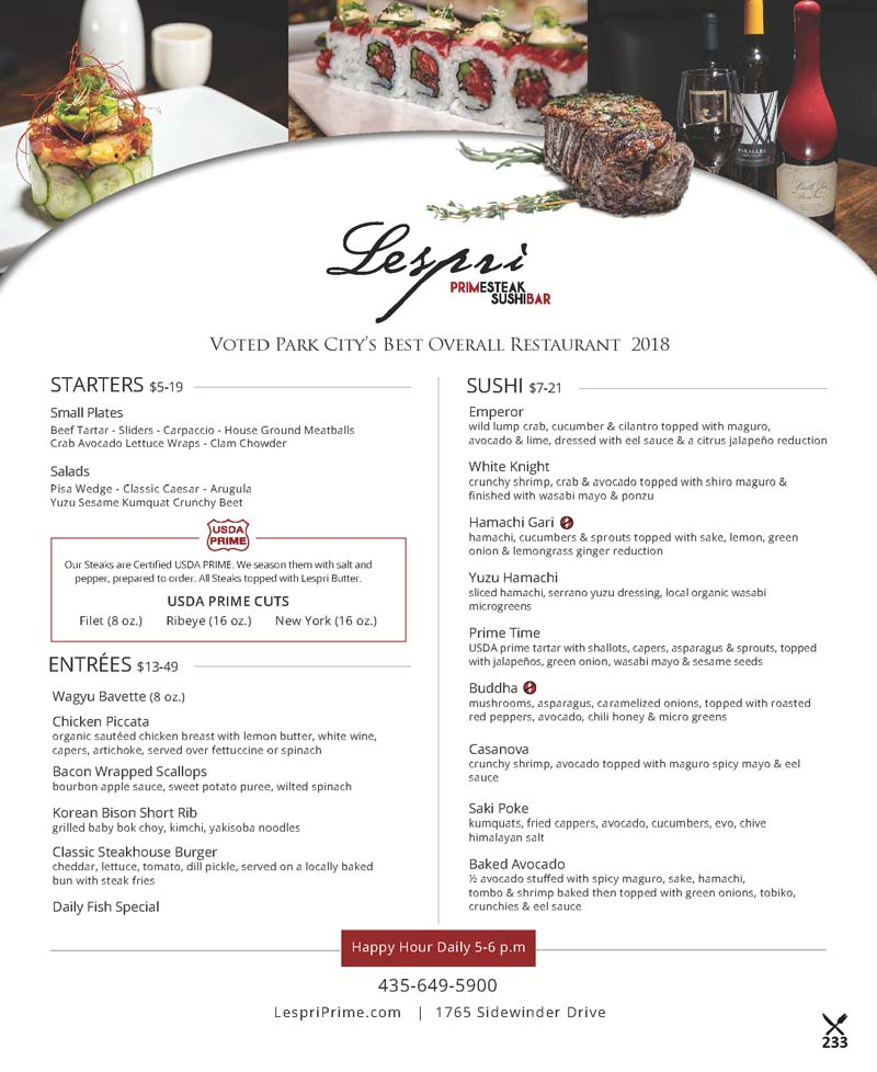 Lespri Prime Steak and Sushi Bar