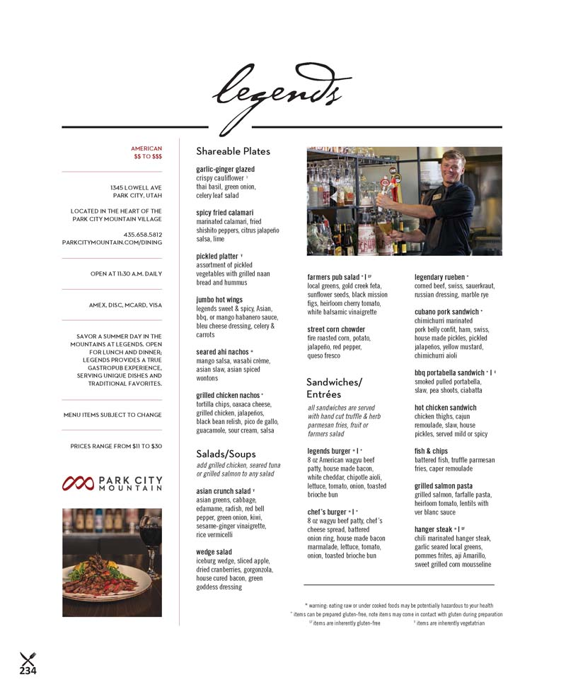 Legends Bar and Grill – Park City Mountain