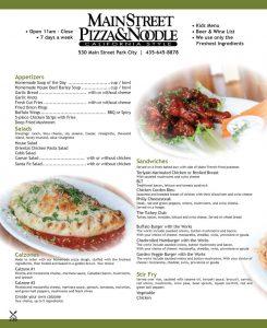 Main Street Pizza & Noodle - Main Street