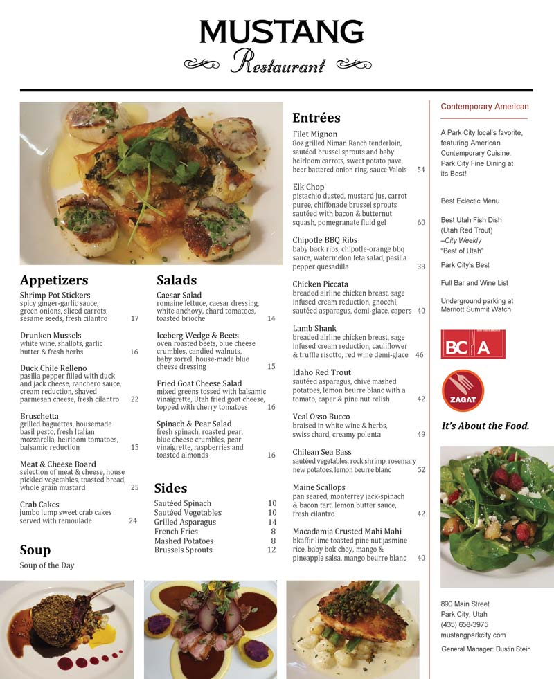 Mustang Restaurant – Park City Fine Dining