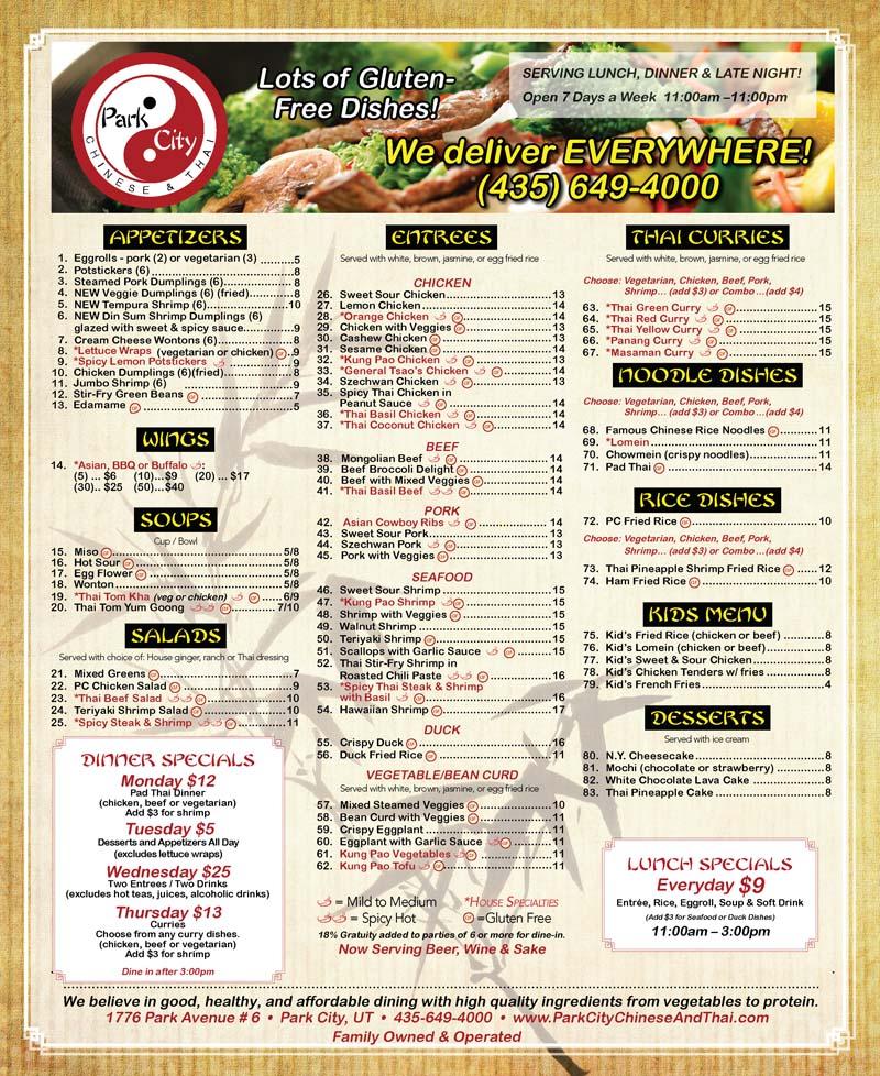Park City Chinese & Thai – Park City Thai Food