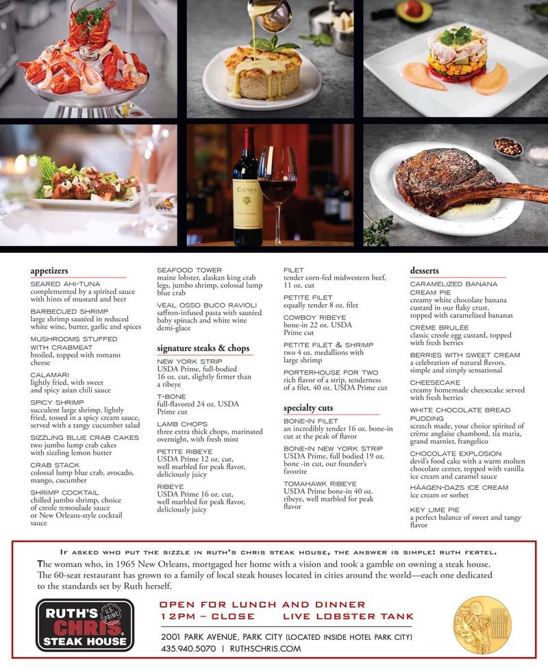 Ruth's Chris Steak House - Park City - Park City Steakhouse