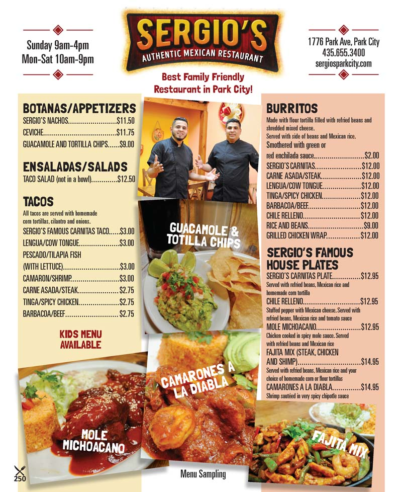 Sergio's Mexican Restaurant – Park City