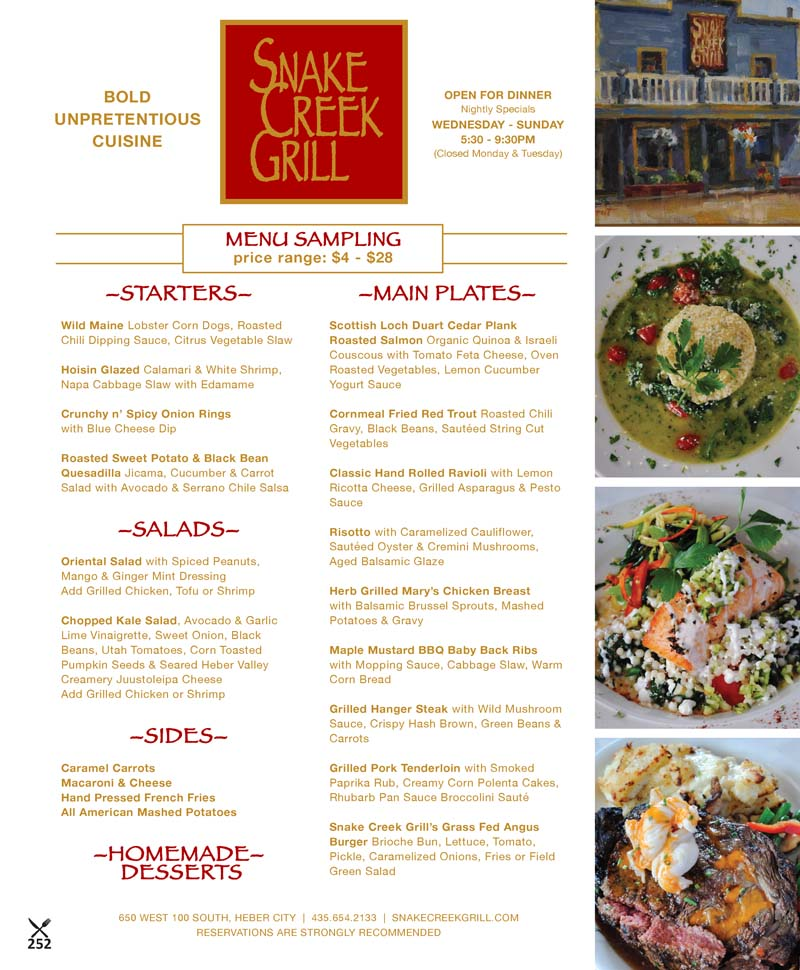 Snake Creek Grill – Heber Valley