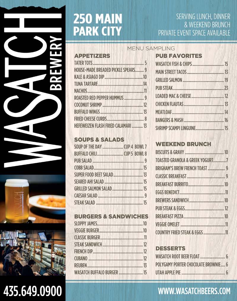 Wasatch Brew Pub – Park City Brewery