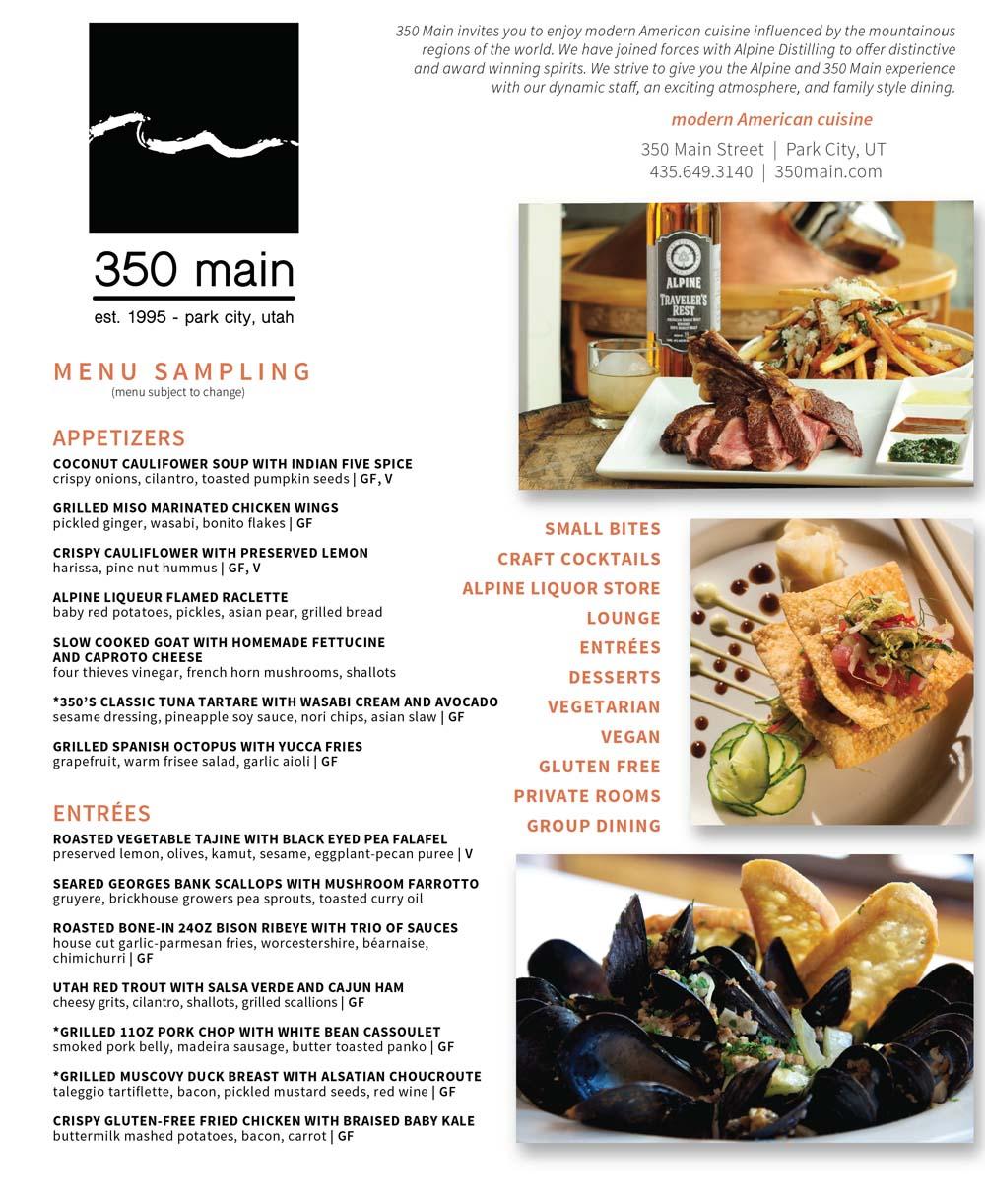 350 Main Brasserie – Main Street Park City