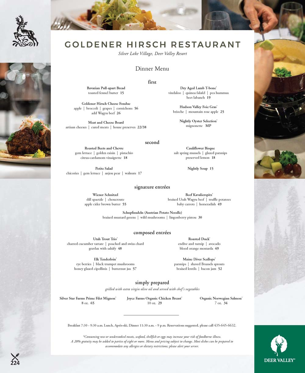 Goldener Hirsch Restaurant – Deer Valley