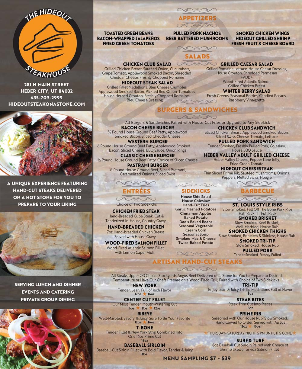 The Hideout Steakhouse – Heber Valley Steakhouse