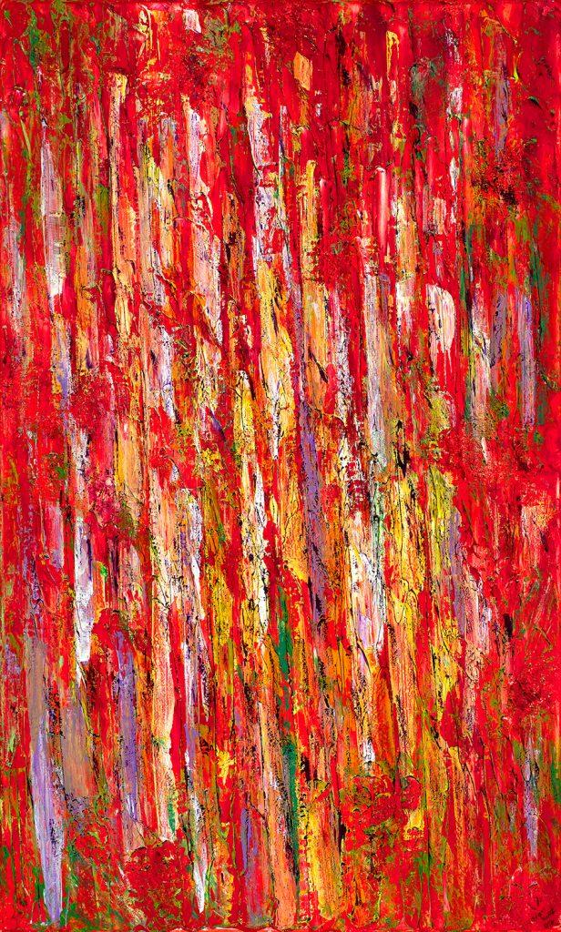 "Landscape of Resonances 014, Acrylic on linen, 60 x 36"" 2019"