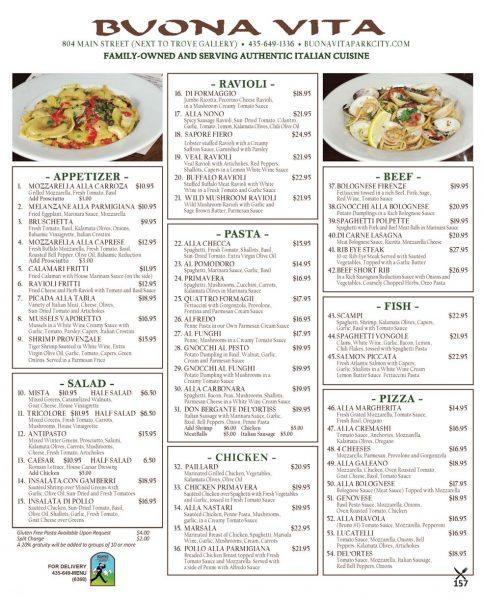Buona Vita – Italian Restaurant – Main Street Park City