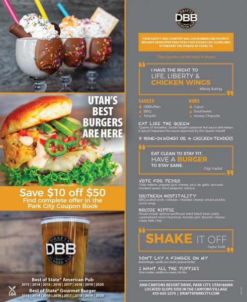 Drafts Burger Bar at Westgate Park City
