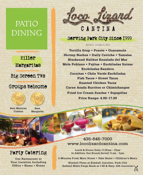 Loco Lizard Cantina – Park City Mexican Food