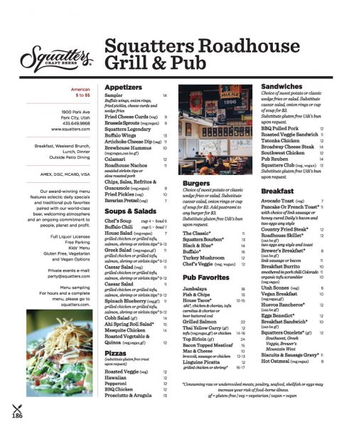 Squatters Roadhouse Grill – Park City