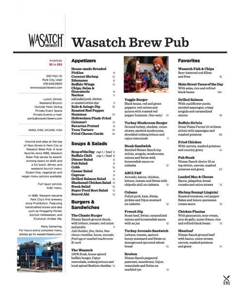 Wasatch Brew Pub – Park City Brewery