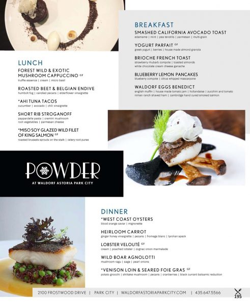 Powder – Waldorf Astoria Park City