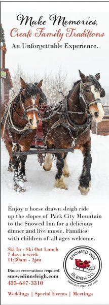 Snowed Inn Sleigh Company – Park City Sleigh Rides