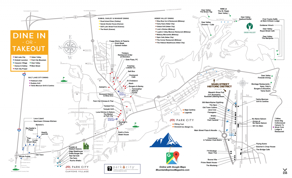 Park City Dining Map W21